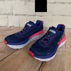 Hoka Shoes - HOKA ONE ONE Bondi 5 Blue Sz 9 Women Running Shoes